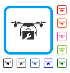 service drone framed icon vector image