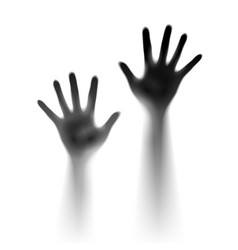 two open hands in the mist of designer vector image vector image