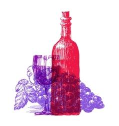 wine logo design template grapevine or vector image