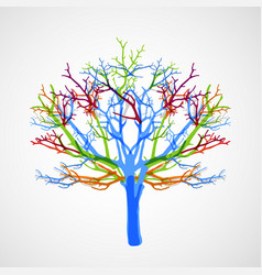 abstract colorful tree vector image