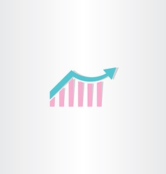 Arrow growth chart symbol vector