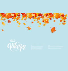 autumn blue sky vector image