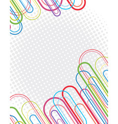 Background design with oval shapes and dots vector