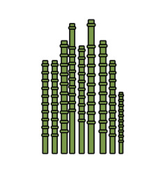 bamboo sticks icon vector image