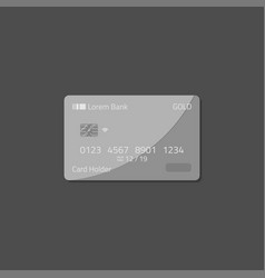 bank deposit credit card vector image