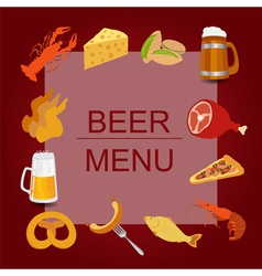 Beer snacks set icons for creating your vector image