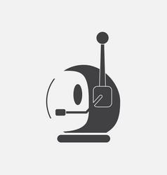 Black icon on white background space helmet vector