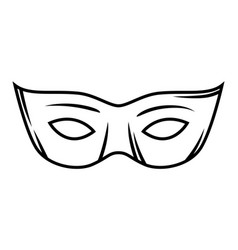 carnival mask black and white vector image
