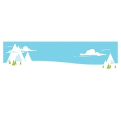 Cartoon landscape winter vector