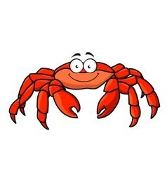 Cartoon red marine crab vector image vector image