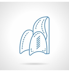 Chair store blue flat line icon vector