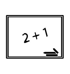 chalkboard class school chalk pictogram vector image
