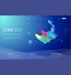 chatbot isometric chat bot vector image