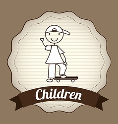 children design vector image