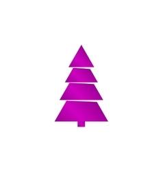 Christmas tree Flat design style vector image