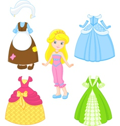 Cinderella dresses vector image