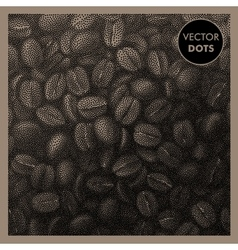 Coffee Beans Vintage Pattern vector
