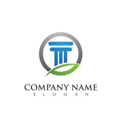 Column logo template vector