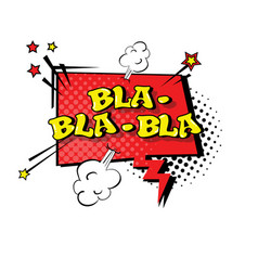comic speech chat bubble pop art style bla vector image