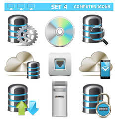 Computer Icons Set 4 vector image
