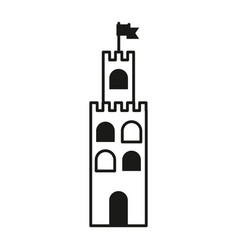 contour castle built on an kingdom to protect them vector image
