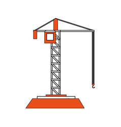 crane construction icon image vector image