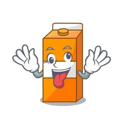 Crazy package juice mascot cartoon vector