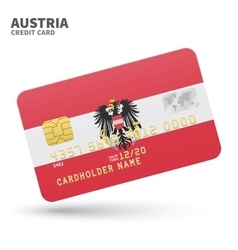 Credit card with Austria flag background for bank vector