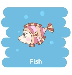 Cute cartooon Fish vector image