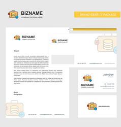 database briefcase business letterhead envelope vector image