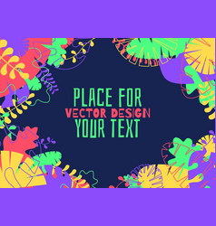 decorative tropical jungle vector image