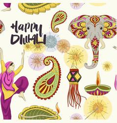 Diwali set pattern vector