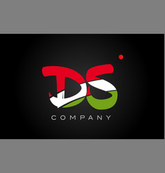 Ds d s alphabet letter logo combination icon vector