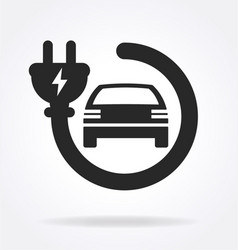 Electric car charge point logo vector