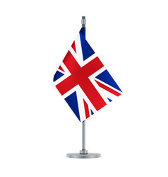 english flag hanging on the metallic pole vector image