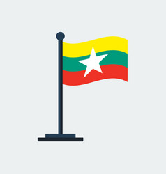 flag of myanmarflag stand vector image