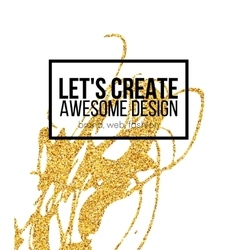 Golden hand-drawn design elements vector image