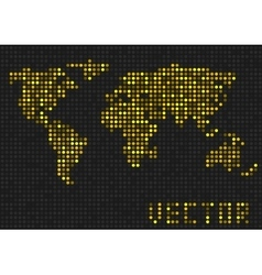 Golden sparkles World map vector
