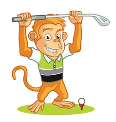 Golf Monkey Cartoon vector image