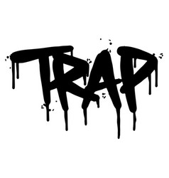 graffiti trap word sprayed isolated on white vector image