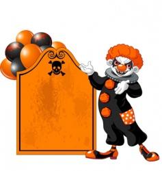 Halloween clown vector