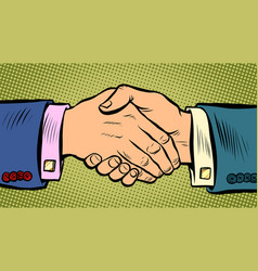 Handshake deal business agreement vector