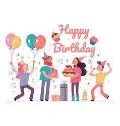 Happy birthday party event concept vector