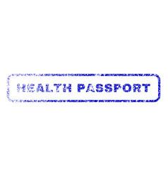 Health passport rubber stamp vector