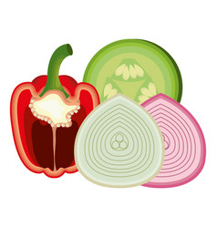 Healthy and fresh vegetables vector