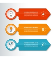 Infographic design template with 3 options vector image