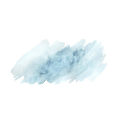 light blue brush painted watercolor abstract vector image
