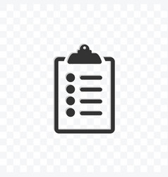 list icon on transparent background vector image