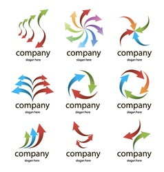 logo colored arrows vector image