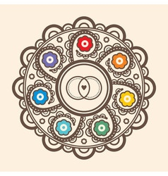 Mandala for wedding invitations and greeting cards vector